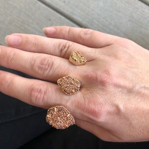 Kendra Scott rose gold drusy ring